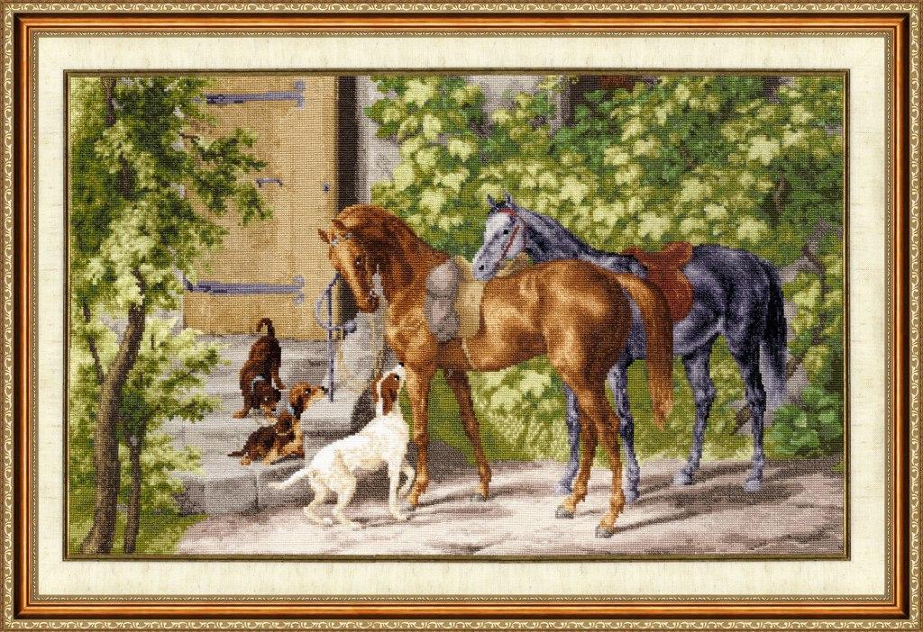 Набор вышивки крестом лошади 15