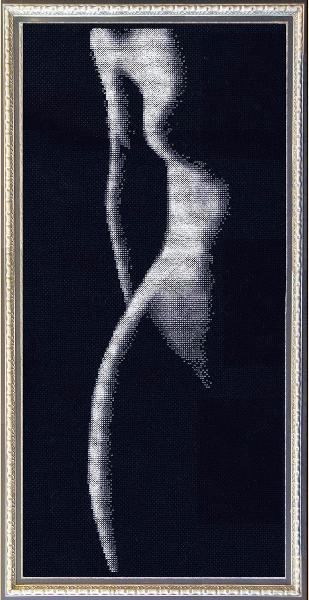Вышивка крестом черно белая фото