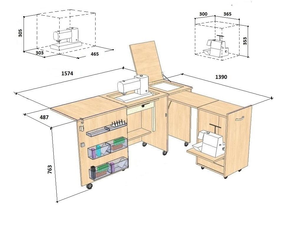 Стол трансформер для рукоделия своими руками