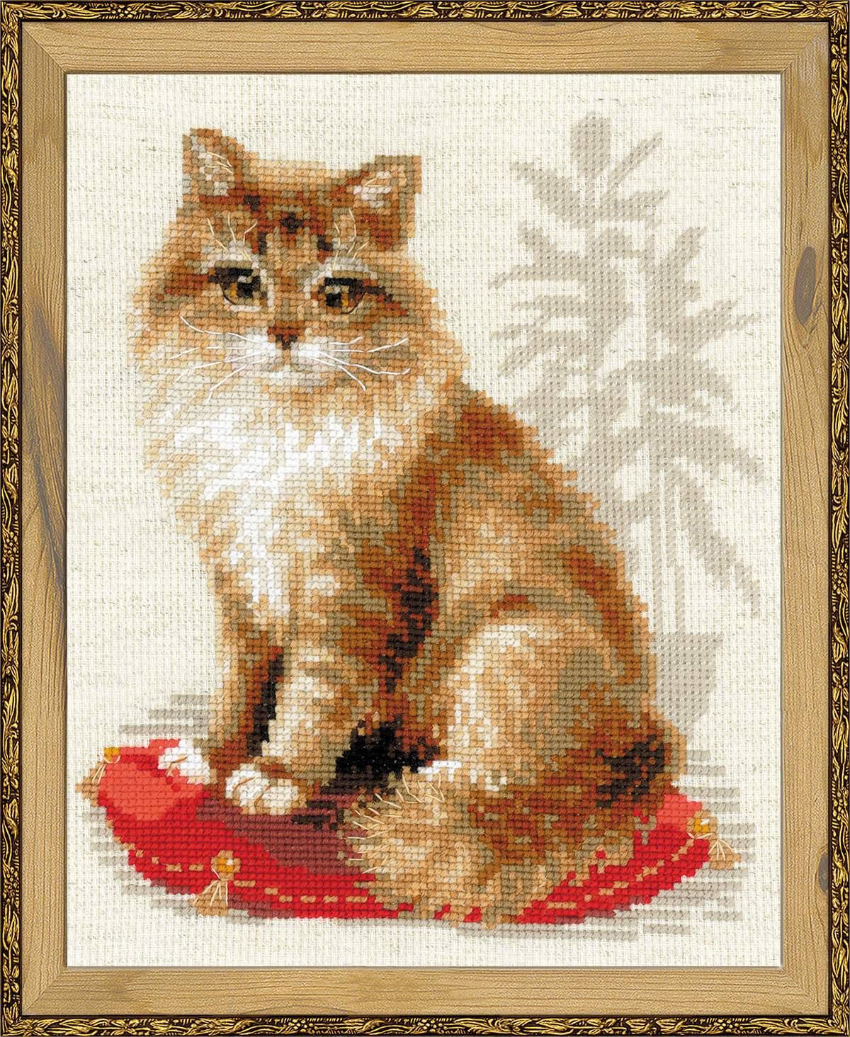 Наборы с вышивкой крестом кошек
