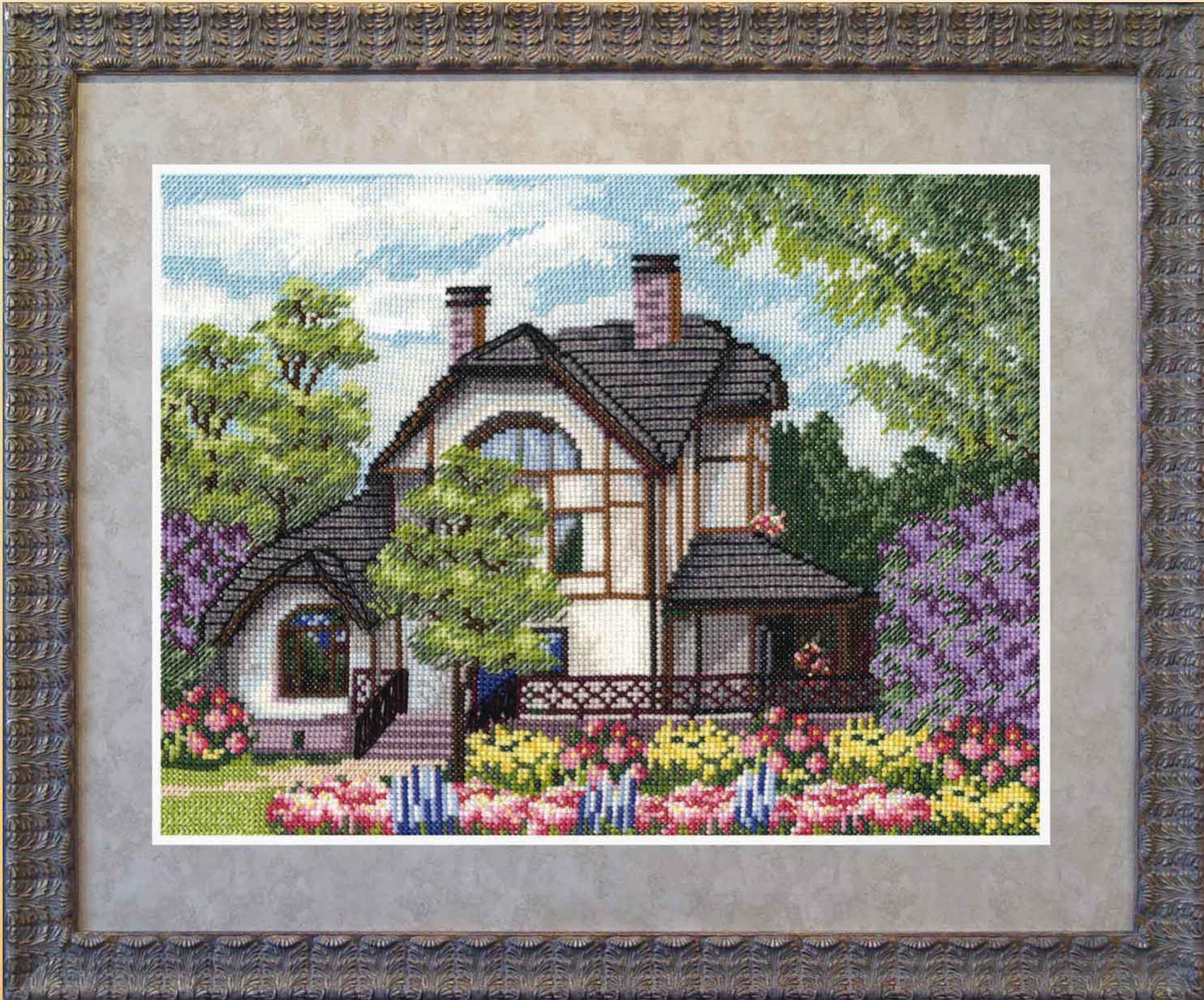 Дом схемы для вышивки крестом 78